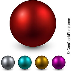 Set of color balls.