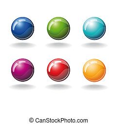 set of color balls