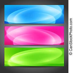 Set of color banner