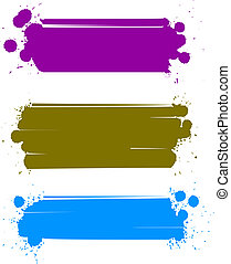 set of color banners, vector