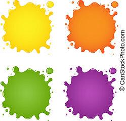 Set Of Color Blots
