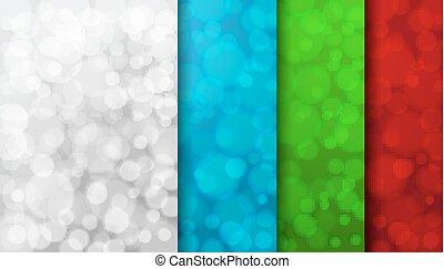Set of color blurred backgrounds