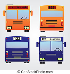 set of color buses eps10