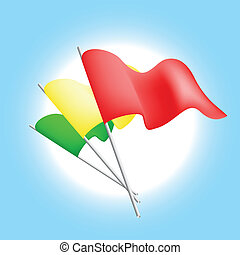 Set of color flags