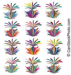 Abstract vector paint splash. Artwork in many hundred ...