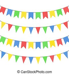 Welcome hanging banner illustration design over a white ...