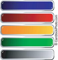 Set of color long buttons