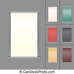 set of color paper labels. vector illustration