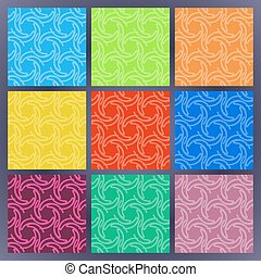 Set of color seamless patterns