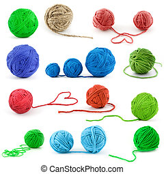 Set of color threads - Set of color thread balls