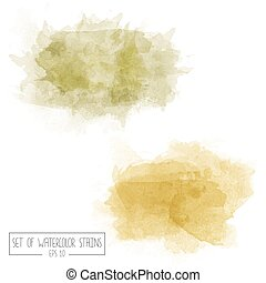 Set of color vector watercolor stains, eps10