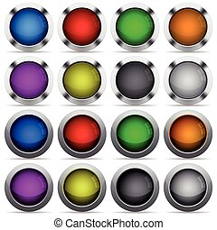 Set of color web buttons