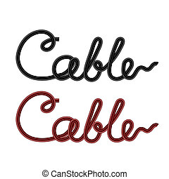 Set of Colored Cables