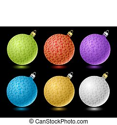 Set of colored Christmas balls