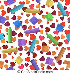 Set of Colored Condoms