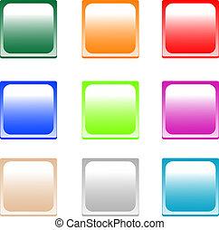 colored empty shiny button