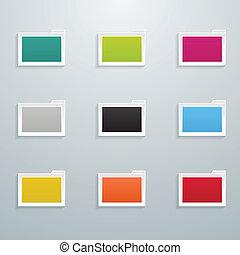 Set of Colored Flat Folders