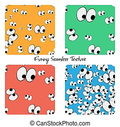 Set of colored funny seamless patterns
