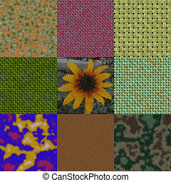 Set of colored knit seamless generated textures
