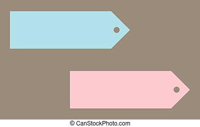 Set of colored label, Icon, Sticker