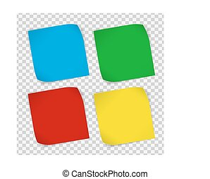 Set of colored paper stickers