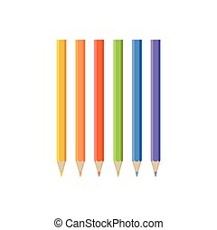 Set of Colored Pencil Icons