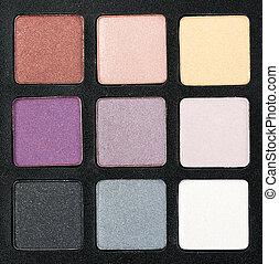 set of colored powder