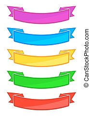 Set of colored ribbons