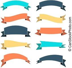Set of colored ribbon