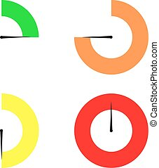Set of colored timers