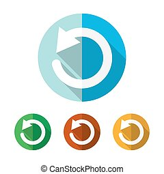 Set of colored update icons. Vector illustration.. - Set of ...