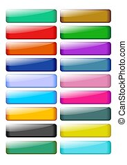 Set of colored web buttons, vector illustration.