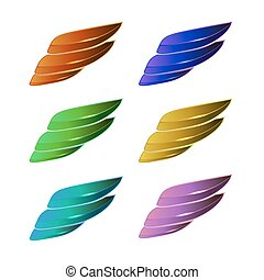Set of Colored Wings