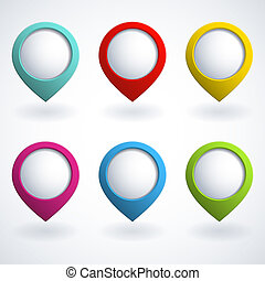 3d buttons - Set of colorful 3d buttons. Vector illustration...