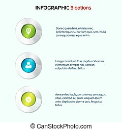 Set of colorful 3d buttons. Vector illustration. One two three - progress steps button