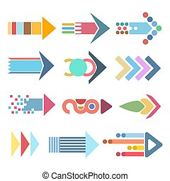 colorful abstract arrow icons