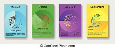 set of colorful abstract background for covers