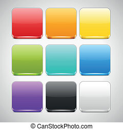 Set of Colorful App Icons