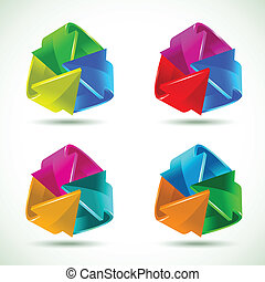Set of colorful arrows icons