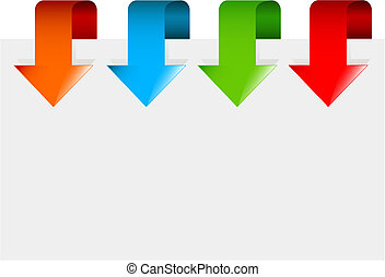 Set of colorful arrows - Set of colorful arrows pointing at...