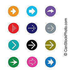 set of colorful arrows, vector