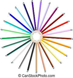 Set of Colorful Art Pencils