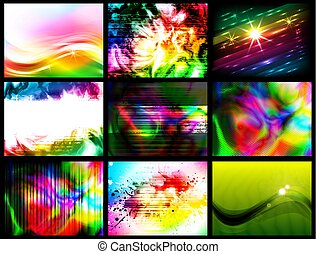 set of colorful backgrounds, vector