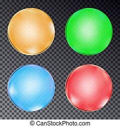Set of colorful balls isolated on transparent background. Vector illustration.