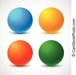 Set of colorful balls.