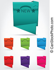 Set of colorful banner .with text