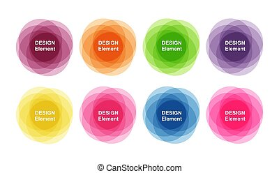 Set of colorful banners for design and decoration.