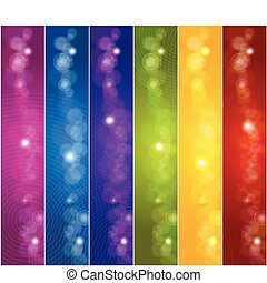 Set of colorful banners. Vector