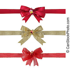 set of Colorful Bows And Ribbons