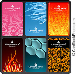 Set of colorful business cards (set